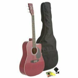 Red Cutaway Acoustic Guitar